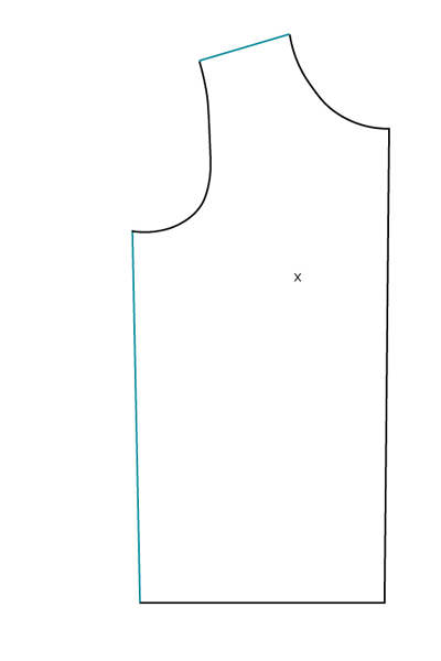 FBA sur patron jersey, méthode 1 : final - Avril sur un fil