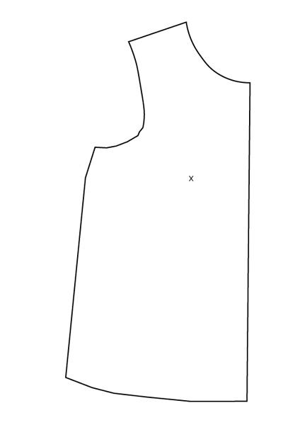 FBA sur patron jersey, méthode 2 : final - Avril sur un fil