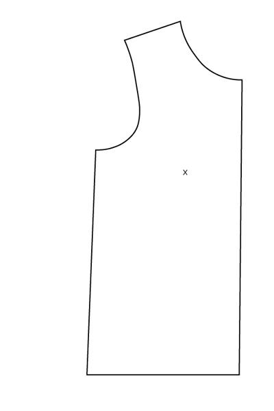 FBA sur patron sans pinces : le patron de base du sweat Courcelles - Avril sur un fil