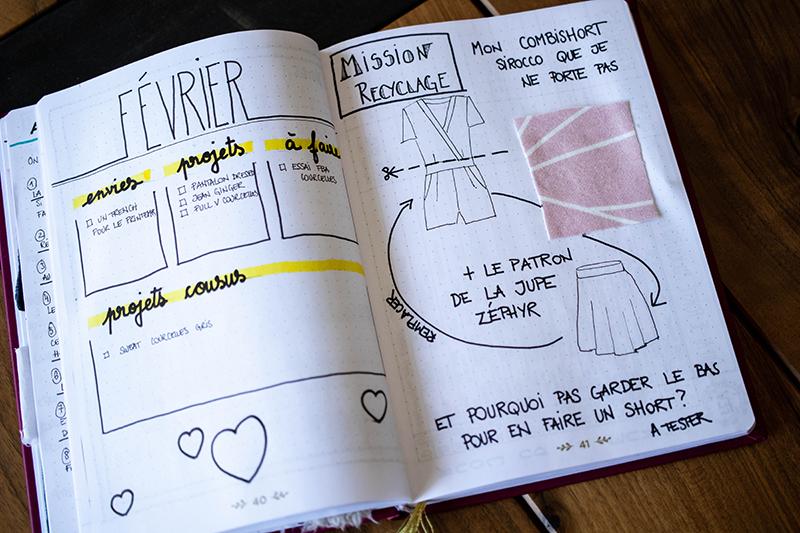 Mon bullet journal couture - Avril sur un fil