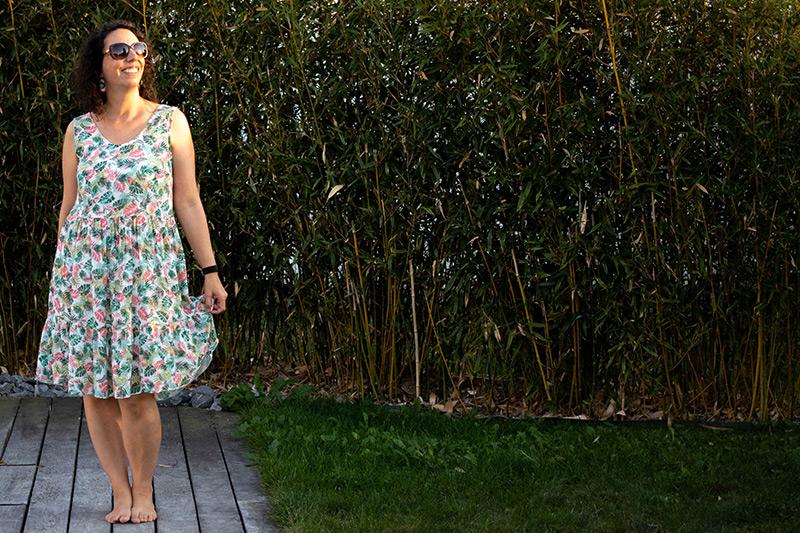 Ma robe d'été cousue main - Avril sur un fil