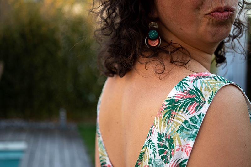 décoleté dos de ma robe d'été - Avril sur un fil
