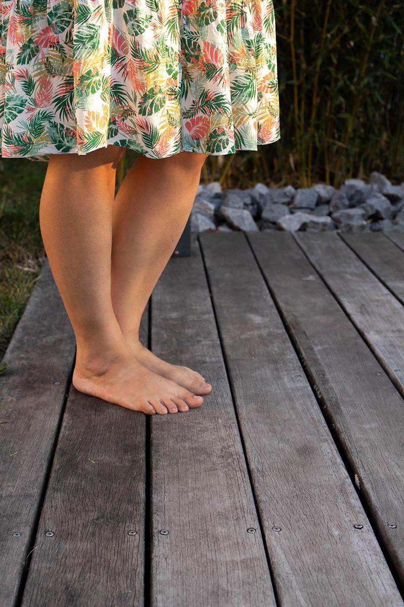 Ma robe sous le coucher de soleil - Avril sur un fil