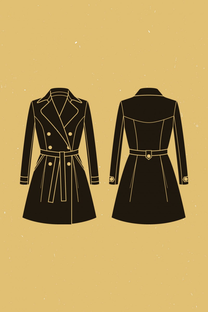 Mes projets couture d'automne : Le trench Luzerne de Deer and Doe