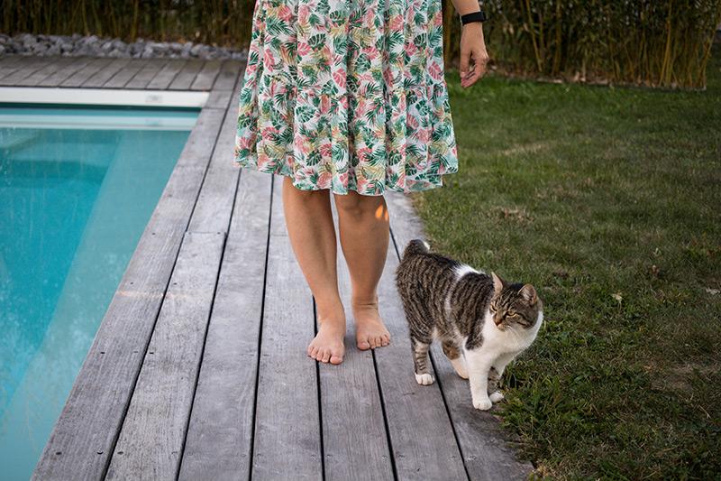 Une invitée surprise sur mes photos - Avril sur un fil