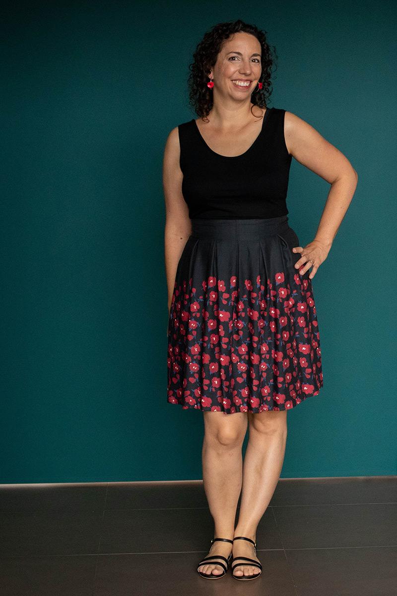 Couture : jupe chardon et tee-shirt Givre - Avril sur un fil