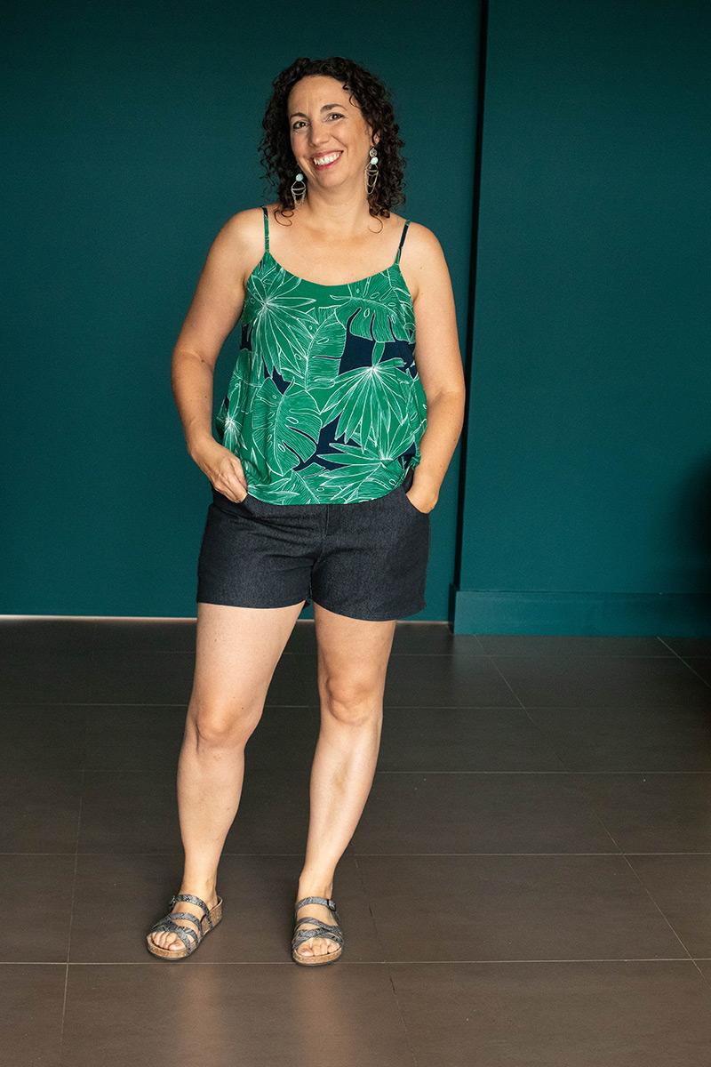 Tenue 1 : Top Ségur et Dressed le short - Avril sur un fil
