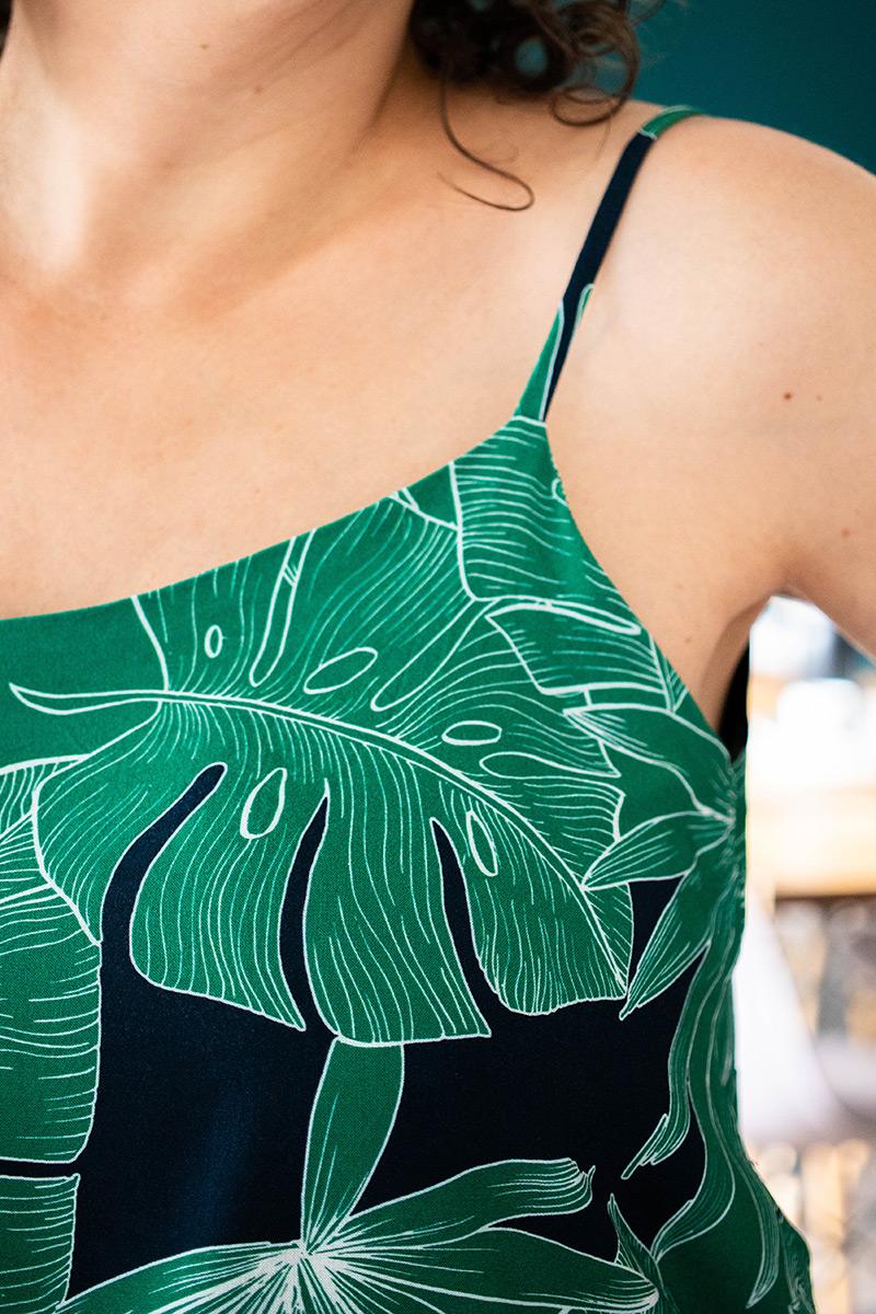 Zoom sur le tissu de mon projet couture - Avril sur un fil