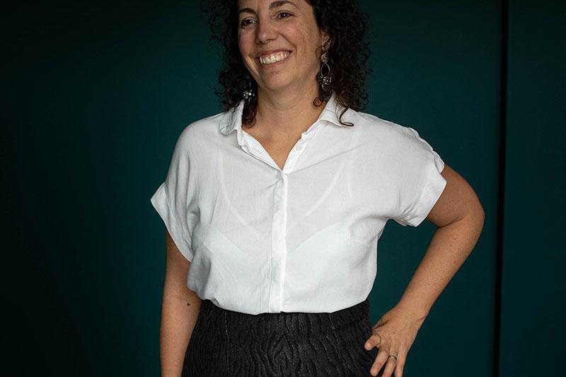 Ma chemise blanche cousue main - Avril sur un fil