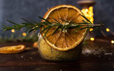 {DIY} : des sels de bain orange romarin