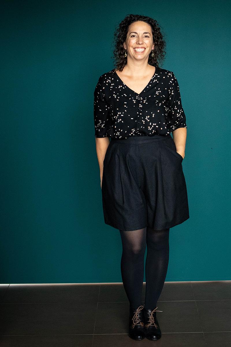 Look 1 : Dressed la jupe culotte et le chemisier - Avril sur un fil