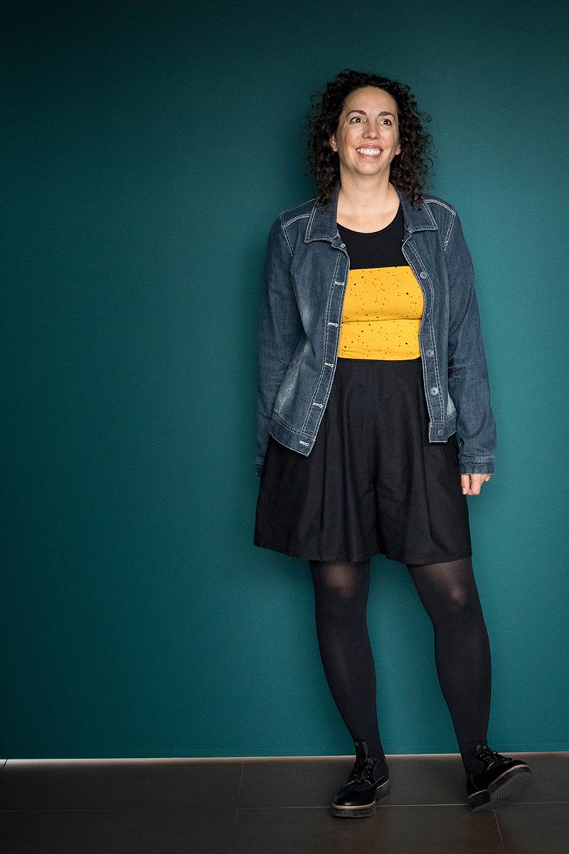 Look 1 : Dressed la jupe culotte et tee-shirt givre de Deer and Doe - Avril sur un fil