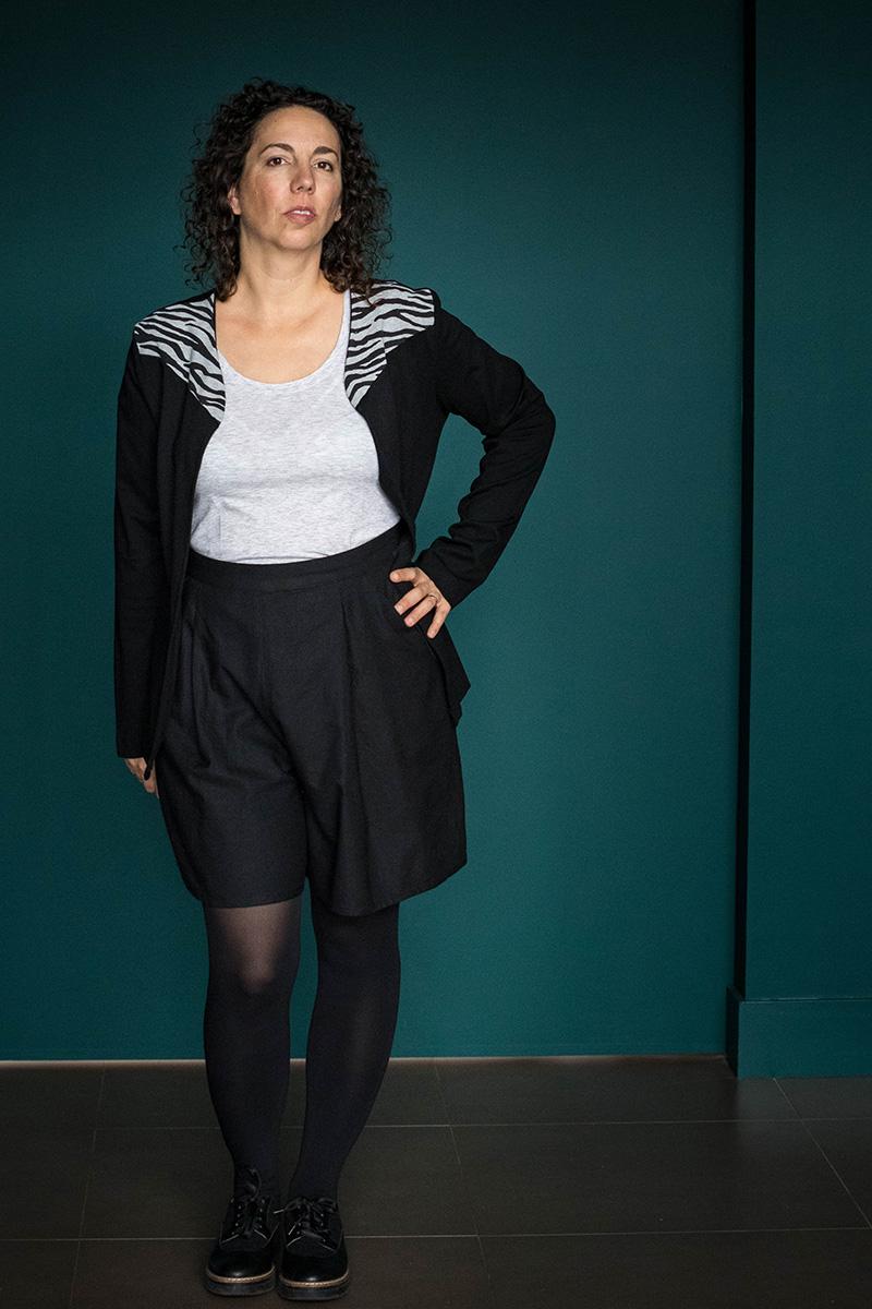 Look 1 : Dressed la jupe culotte, tee-shirt plantain de Deer and Doe et l'incontournable de Mlm Patterns - Avril sur un fil